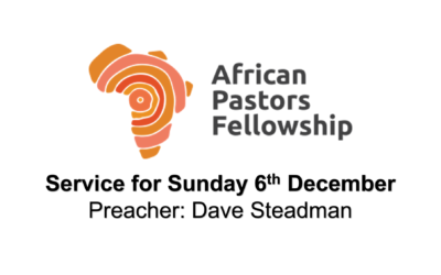 Service for Sunday 6th December 2020